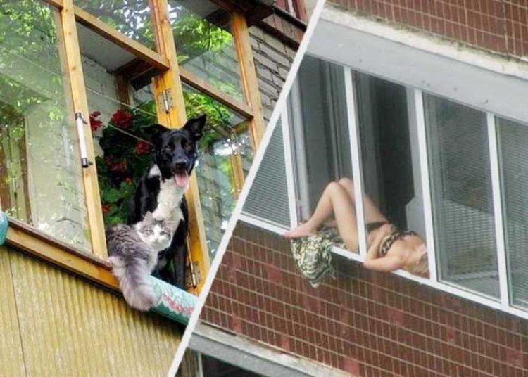 हमें लगता था कि भारत की छतों पर ही अतरंगी नज़ारे दिखते हैं, लेकिन रूस की बालकनियां भी किसी से कम नहीं!