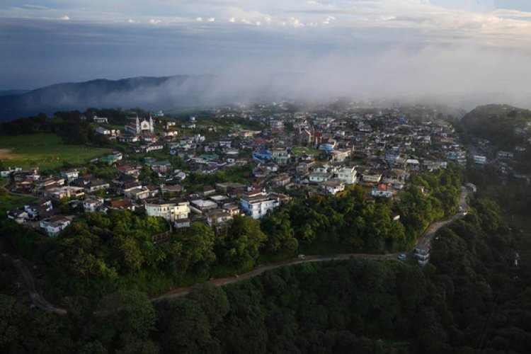 """The state of Meghalaya, northeast India's """"abode of clouds"""", is the wettest inhabited place on earth. The forested range holds an average rainfall of 12,000 mm (470 inches) of rain each year. That's nearly 33mm of rain per day."""