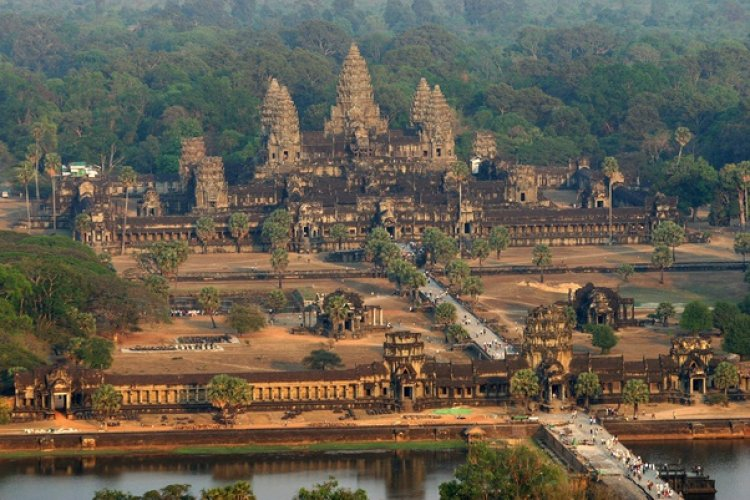 The largest religious structure in the world is Angkor Wat, a Hindu Temple in Cambodia built near the end of the 11th century.
