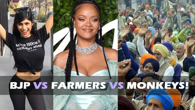 BJP vs farmers vs monkeys!